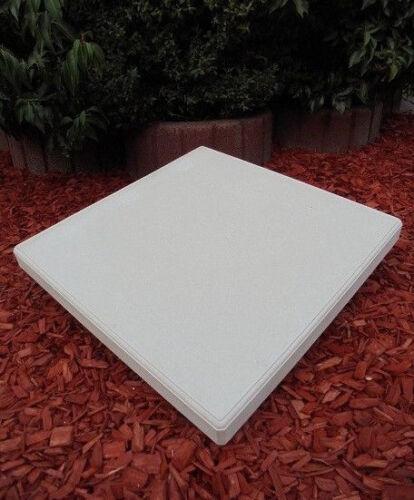 Abdeckplatte Steinguss Pfeilerkrone Pfeilerabdeckung,35cm x 35cm Gartendeko