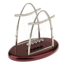 Newton Cradle Balance Ball Pendulum Kids Educational Toy Gift Arch-L