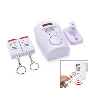 105dB-Motion-Sensor-Detector-Alarm-Wireless-IR-Infrared-Remote-Home-Security-EC