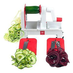 Paderno world cuisine tri blade folding spiralizer - Paderno world cuisine spiral vegetable slicer ...