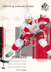 STEVE YZERMAN, RED WINGS, RARE 2004-05 NHL UPPER DECK SP AUTHENTIC CARD.