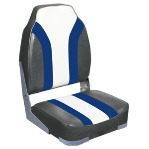 New High Back Rainbow Marine Boat Seat Gray Charcoal
