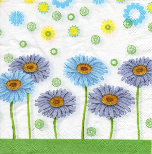 4 Serviettes des nappes tovaglioli Serviettes technique Fleurs Fleurs 1162