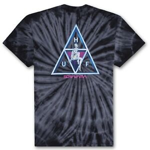 HUF-X-SORAYAMA-TRIPLE-TRIANGLE-WASH-T-SHIRT-BLACK