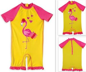 d451471ef Wippette Swimsuit Swim Baby Girl's One-Piece Flamingo Rashguard Surf ...