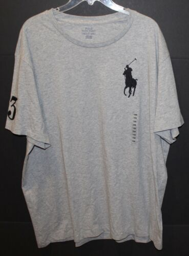 1xb Mens T and Tall 712169604196 Crewneck Polo Nwt maat Big grijs shirt Lauren Ralph 80kNnPXwO