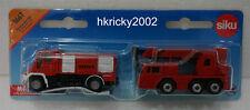 Siku Super 1661 Firefighter Fire Service Engine Command Car Unimog and Crane Set