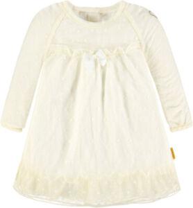 Details Zu Steiff Langarm Kleid Aus Tüll Taufe Taufkleid Beige 74