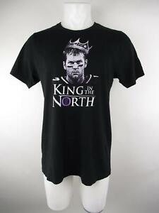 Bella-Canvas-Men-039-s-sz-L-Black-Tom-Brady-Game-of-Thrones-Graphic-Tee-T-Shirt