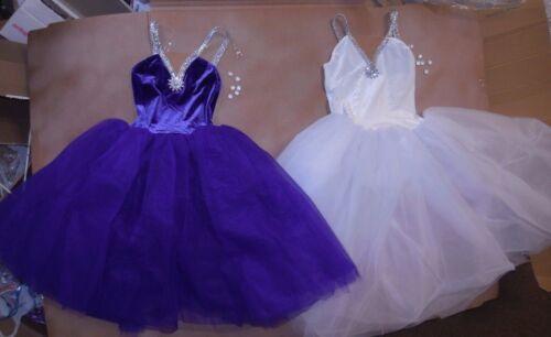 Romantic Length Ballet Costume Velvet Spandex many colors choices ch//ladies sze