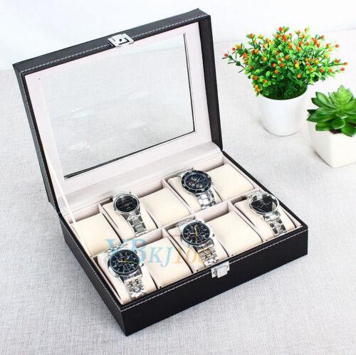 Uhrenbox Uhrenkoffer Uhr Aufbewahrungsbox Uhrenkasten Uhrenschatulle ST 01
