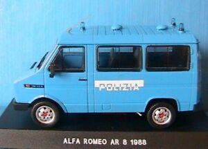 ALFA-ROMEO-AR-8-1988-POLIZIA-DEAGOSTINI-1-43-ITALIA-NEW-POLICE-CAMION-VITRE