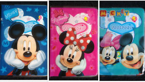 MINNIE-MICKEY-MOUSE-Childrens-Passport-Cover-Case-Protector-Holder-Kids-NEW