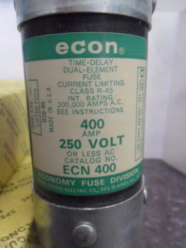 New Econ ECN 400 400 Amp Fuse 250 Volts Bussmann FRN-R-400 ECNR 400 NIB