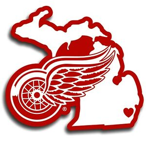 Detroit Red Wings Home State Vinyl Auto Decal (NHL ...
