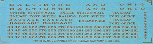 B/&O RAILWAY POST OFFICE ~ DULUX GOLD HO Model Railroad Water Slide Decal BCD206