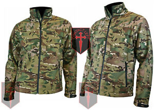 Highlander Softshell Jacket Water Resistant  Multicam Style Camo ARMY SAS