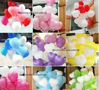 10-100 Heart Shape White & Mix Colour Balloons Helium For Mothers Day Wedding