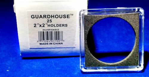 25 Guardhouse 2x2 Tetra Snaplock Coin Holder for 1-Oz American Silver Eagle