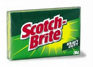 (48) ea 3M # 425 Scotch-Brite HD Kitchen Scrubbing Scrub Cleaning Pad Sponges