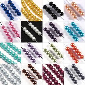 Lot-de-100-Perles-en-Verre-Nacrees-4mm-pour-Creation-de-Bijoux-Couleur-aux-choix