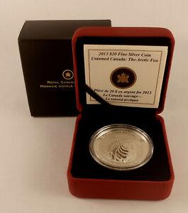 2013 CANADA $20 Untamed Canada THE ARCTIC FOX Fine Silver Proof Coin