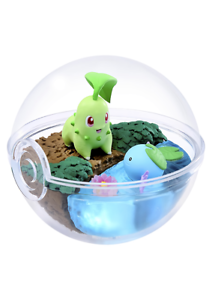 Re-ment-Pokemon-Terrarium-Pokeball-Collection-5-Chikorita-amp-Wooper-Ship-in-Box
