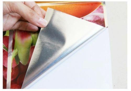 Kitchen Oil-proof Wall Sticker Keep Clean Art Mural Aluminum Foil Decal Decor