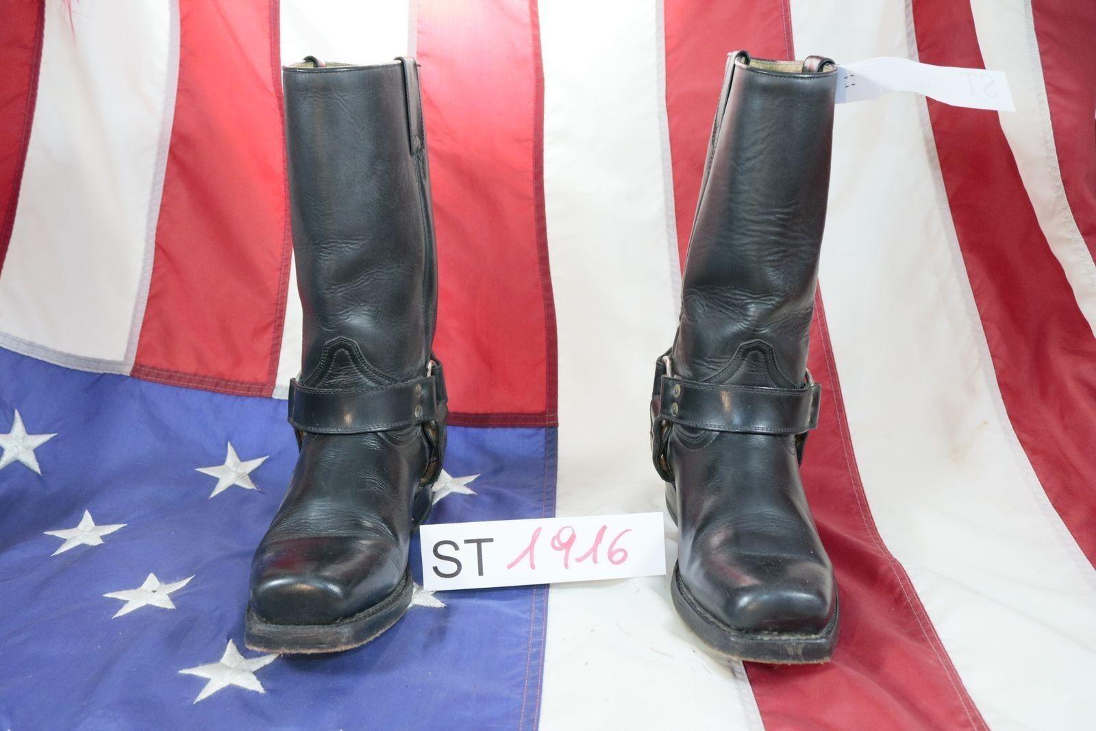 Stiefel Buffalo ( Cod. ST1916) Gebraucht N.40 Leder Männer Schwarze Cowboy