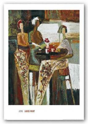 ART PRINT  Ladies' Night by Barry Kite Fantasy Van Gogh /& Mona Lisa 16x24 Poster