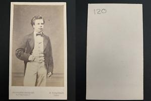Braquenais-Paris-Coquelin-aine-acteur-Vintage-carte-de-visite-CDV-Ti