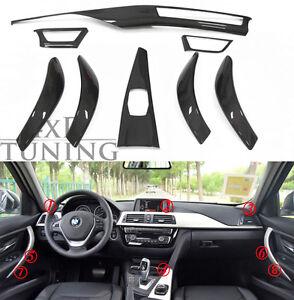 For BMW 3 4 Series F30 F34 GT F36 F32 F33 Carbon Fiber Interior Trim Mouldings