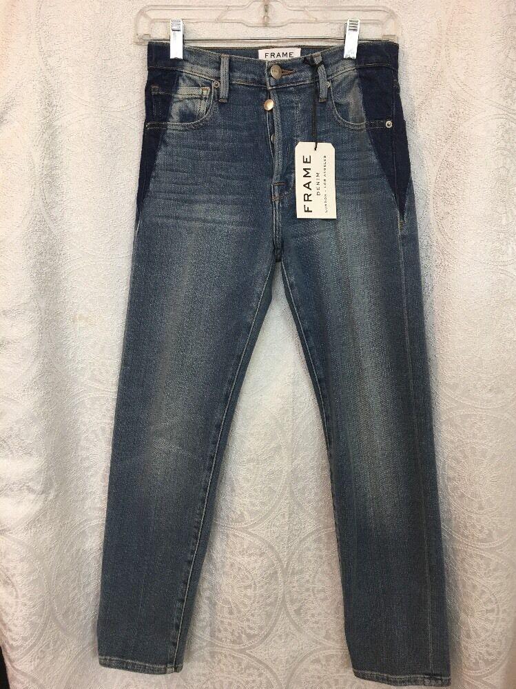 Frame Jeans The Original Medium Wash Elton Button Fly NWT  Size 23