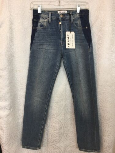 The Nwt Medium Size Button Elton Fly Jeans Wash Frame 23 Original x686P