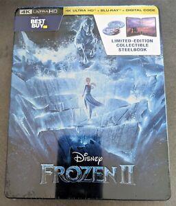 Disney-FROZEN-II-2-Blu-Ray-4K-2D-Digital-Best-Buy-Limited-Edition-STEELBOOK