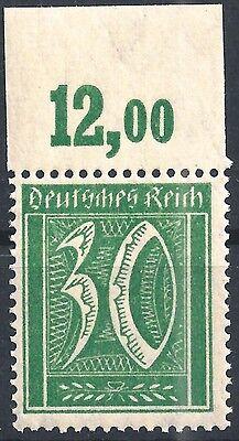 Minr Deutsches Reich 162 Vom Plattenoberrand Von Feld 4 Mit Glatter Gummierung Postfrisch