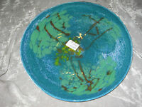 Decorative Glass Serving Platter Plate Hand Blown Entertain Center Piece