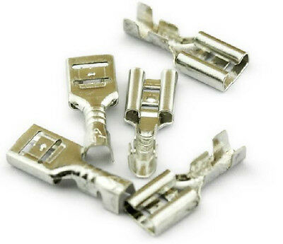 50Pcs 4.8mm Crimp Terminal Female Spade Automobilemotorcycle connectors