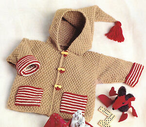 bffbabeaa Easy Beginner Baby Jacket with Pockets   Hood DK Knitting Pattern 3 ...