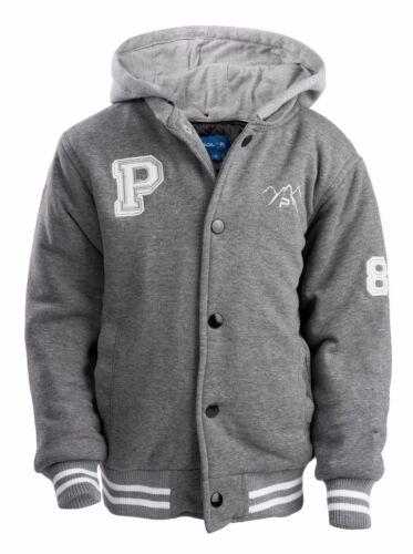 The Polar Club Mens Fleece Varsity Baseball Jacket Padded Black or GRAY ALL SIZE