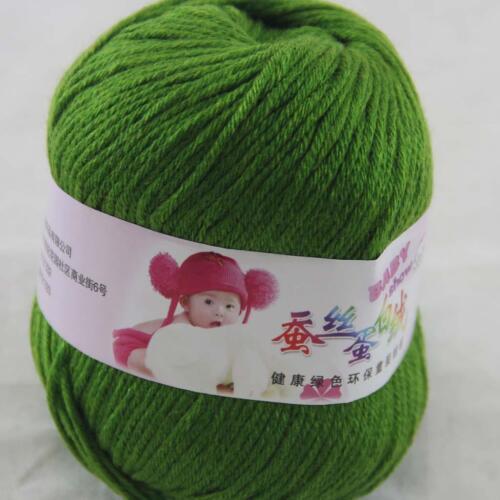 DK Baby Cashmere Silk Wool Crochet Children Hand knit Scarf Yarn 1x50gr Ball 22