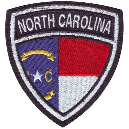 North Carolina Flag Crest Embroidered Patch