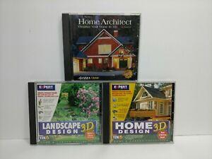 Home Architect Home Design 3D Landscape Design 3D Computer PC Software 1990's