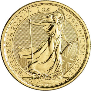 2021 Great Britain Gold Britannia £100 - 1 oz - BU