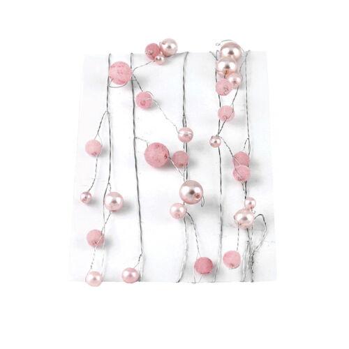 mit ca Perlengirlande matt glänzend 60 Perlen 1,5 Meter !!!