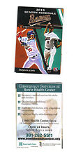 2015 BOWIE BAYSOX POCKET SCHEDULE