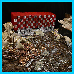 HUGE-ESTATE-LOT-FIND-OLD-US-COINS-GOLD-SILVER-BULLION-RARE-US-CURRENCY-MIXED-LOT