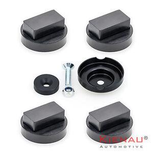 4x-Hebebuehne-Wagenheberaufnahme-f-BMW-Adapter-Wagenheber-inkl-Aufnahmeteller