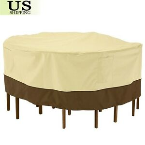 94 Waterproof Round Table Chair Set Cover Outdoor Patio Garden