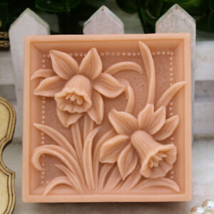 Image is loading Flower-Silicone-Soap-Mold-Homemade-Soap-DIY-Craft-